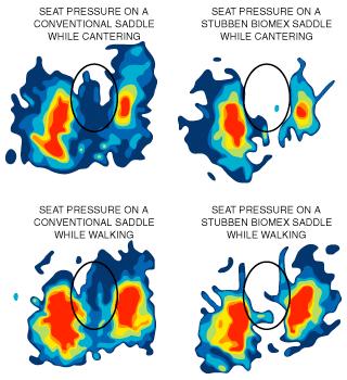 Stübben Biomex Seat Pressure Charts