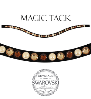Stübben Browband brown pearl inlay