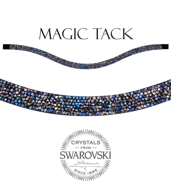 Stübben Browband blue rocks inlay