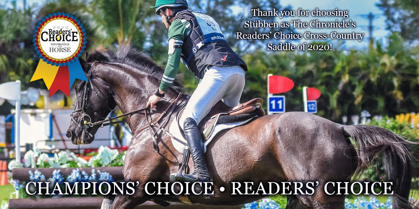 Thank you for choosing Stübben as The Chronicle's Readers' Choice Cross-Country Saddle of 2020!